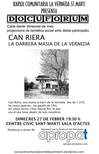 Docufòrum: Can RIERA